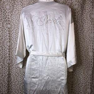 Victoria Secret White Satin Bridal Robe